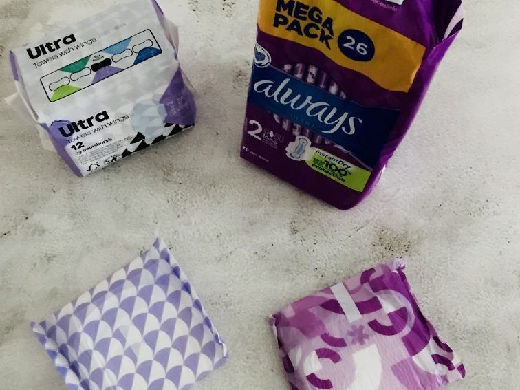 How do you dispose of period pads or Tampons at home?